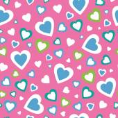 Valentines day hearts pattern — Stock Vector