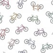 Colorful bicycles pattern — Stock Vector #63070255