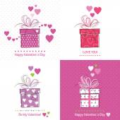 Valentines day cards collection — Stock Vector