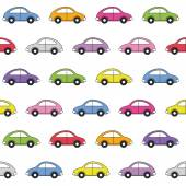 Colorful cars pattern — Stock Vector