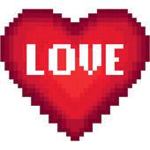 Pixel heart card — Stock Vector