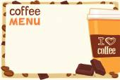 Coffee cup on menu board — ストックベクタ