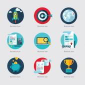 Business icons for Web Application — Stock Vector