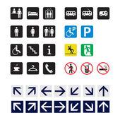 European road signs — Stock Vector