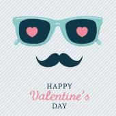 Hipster Valentine's day postcard — Vector de stock