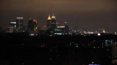 Timelapse, Atlanta at night — Stock Video