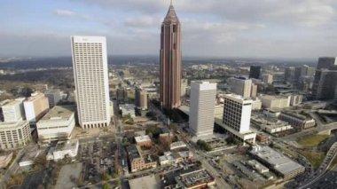 Atlanta skyline aerials, Bank of America Plaza — Stock Video