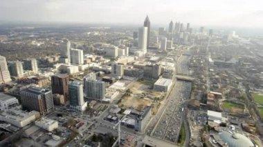 Atlanta skyline aerials — Stock Video