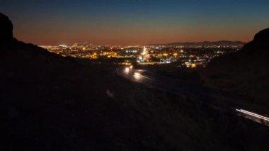 Arizona freeway at night — Stock Video