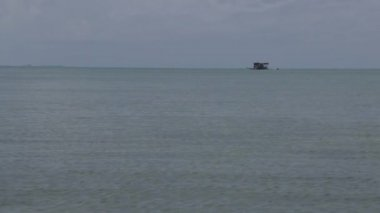 Boat at sea Belize — Stok video