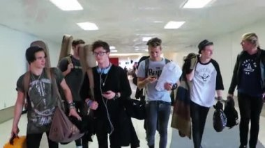 The Vamps at LAX — Stock Video