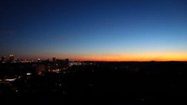 Blue and orange sky goes dark — Stock Video