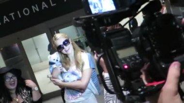 Paris Hilton at LAX — Stock Video