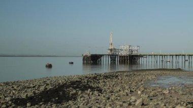 Loading docks on Canvey Island, Essex — Stock Video