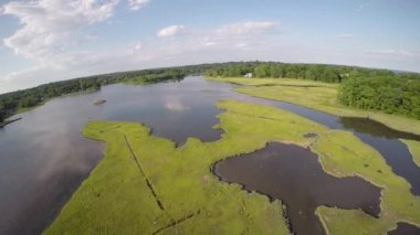 Sherwood Mill Pond, Westport Connecticut USA — Stock Video