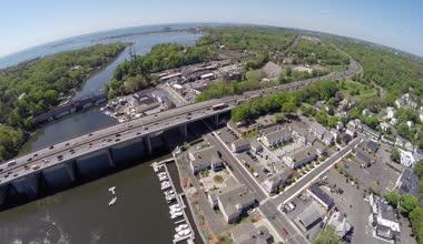 Highway aerial footage — Stock Video