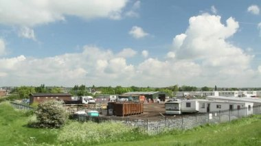 Caravan trailer park on Canvey Island — Stock Video