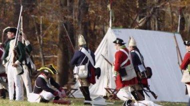 Revolutionary War reenactment — Stock Video