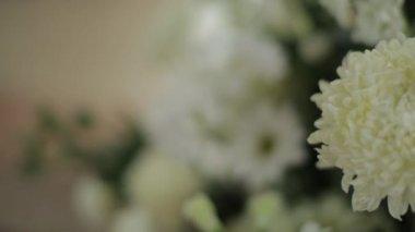 Weißer Blumenstrauß — Stockvideo