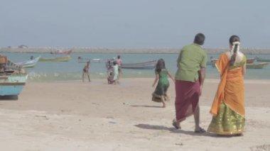 India beach scenics — Stock Video