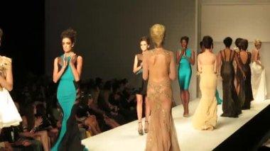 Walter Mendez show, Fashion Week 2014 — Stock Video