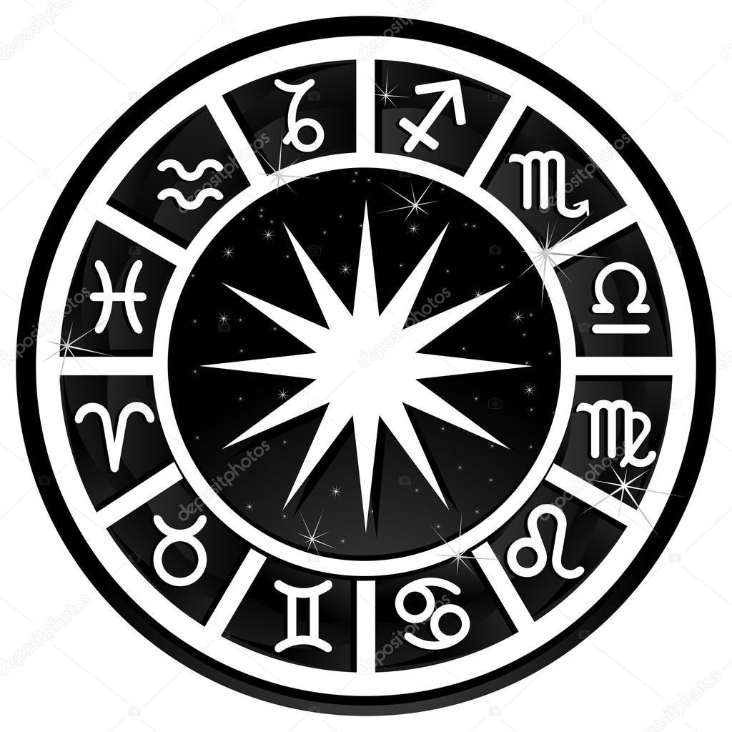 Black zodiac circle — Stock Vector © Oksanamoon #63208909