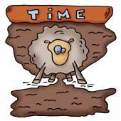 Czas, klepsydra. Owiec. — Wektor stockowy