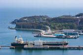 Tanker Pacific Oasis at the oil terminal. Nakhodka Bay. East (Japan) Sea. 21.05.2012 — Stock Photo