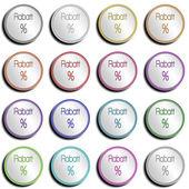 Button Silver Shiny RABATT — Stock Photo