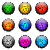Button Color THANKYOU — Stock Photo