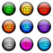 Button Color YES — Stock Photo