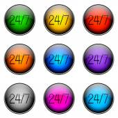 Button Color 247 — Stock Photo