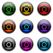 Button-Farb-Kamera — Stockfoto