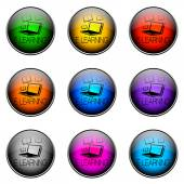 Button Color ELEARNING — Stock Photo