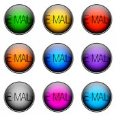 Button Color EMAIL — Stock Photo