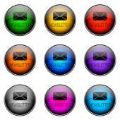 Button Color NEWSLETTER — Стоковое фото