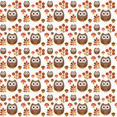 Pattern illustration OWL — Stock Vector