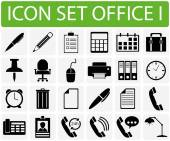 Icon Set Office I — Stock Vector