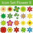 Icon Set Flower II — Stock Vector #73647097