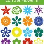 Icon Set Flower III — Stock Vector #73980873