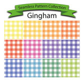 Pattern Collection Vector Seamless Gingham — Stock Vector