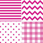 Pattern Collection Vector Seamless Retro Background — Stock Vector