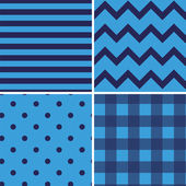 Pattern Collection Vector Seamless Retro Background — Vetor de Stock