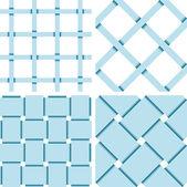 Pattern Vector Seamless Textile Background Blue — Stockvector