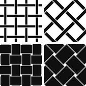 Pattern Vector Seamless Textile Background black — Stockvector