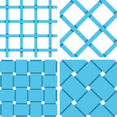 Pattern Vector Seamless Textile Background Blue — Stockvector