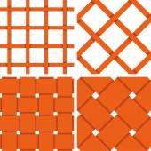 Pattern Vector Seamless Textile Background Orange — Stockvector