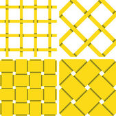 Pattern Vector Seamless Textile Background Yellow — Stockvector