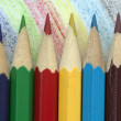 Pencils on a colourful background — Stock Photo #65784697