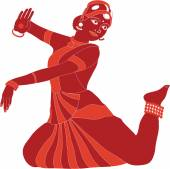 индийский танец — Cтоковый вектор